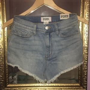 PINK , High Waisted Cut Off Shorts. Size 2.